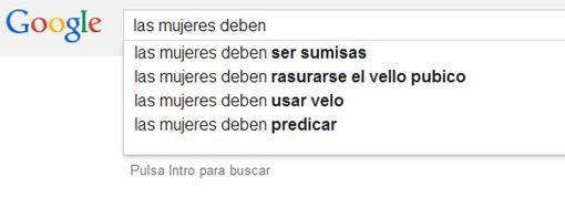La discriminación de la mujer en el buscador Google