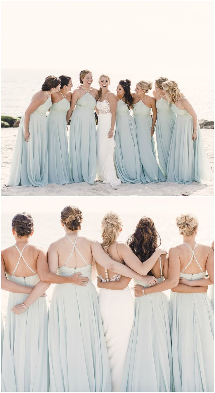 756 best bridesmaid fashion dress styles images on pinterest beach wedding bridal party light blue bridesmaid dresses matching long gowns pin to ombrellifo Images