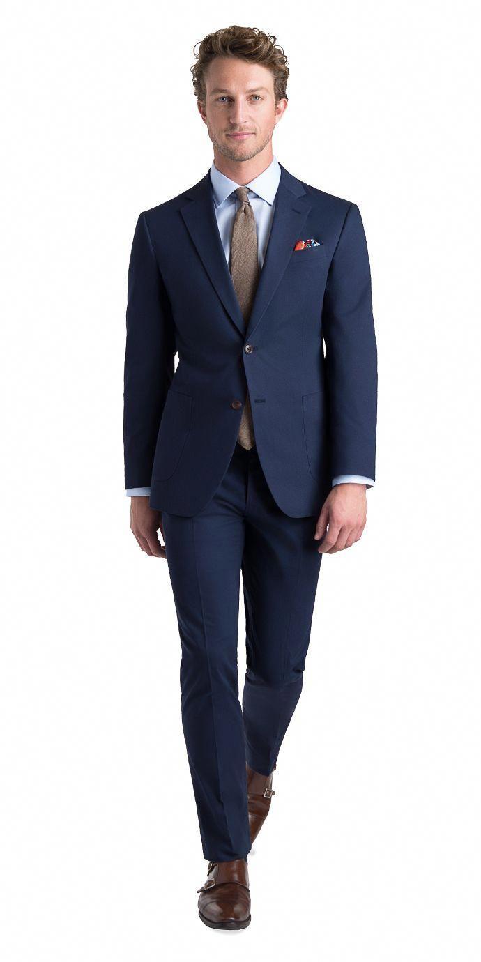 777de22d8af Navy Cotton Suit - Mens Suits