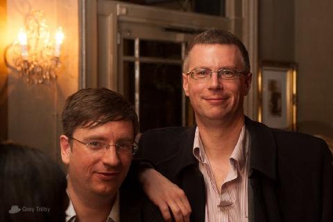 Jon Reed and Simon Juden at the Publishing Talk London Book Fair Tweetup 2012.