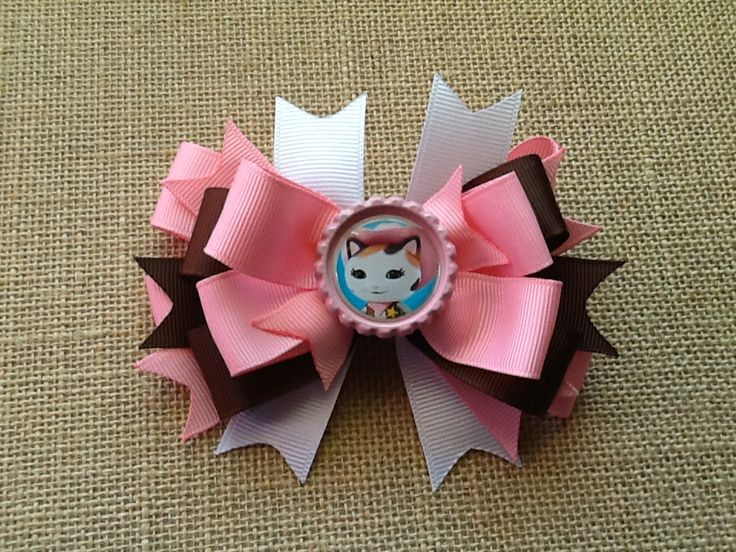 Sheriff Callie hair bow from www.facebook.com/RosieMaeBowtique