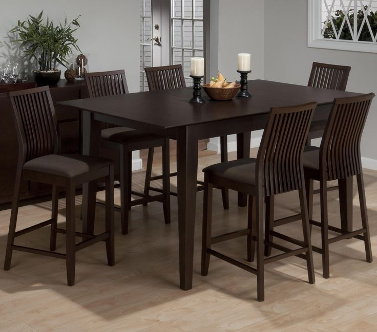 JOFRAN RYDER ASH 7 PIECE CONTEMPORARY COUNTER HEIGHT TABLE SLAT BACK BAR STOOL SET