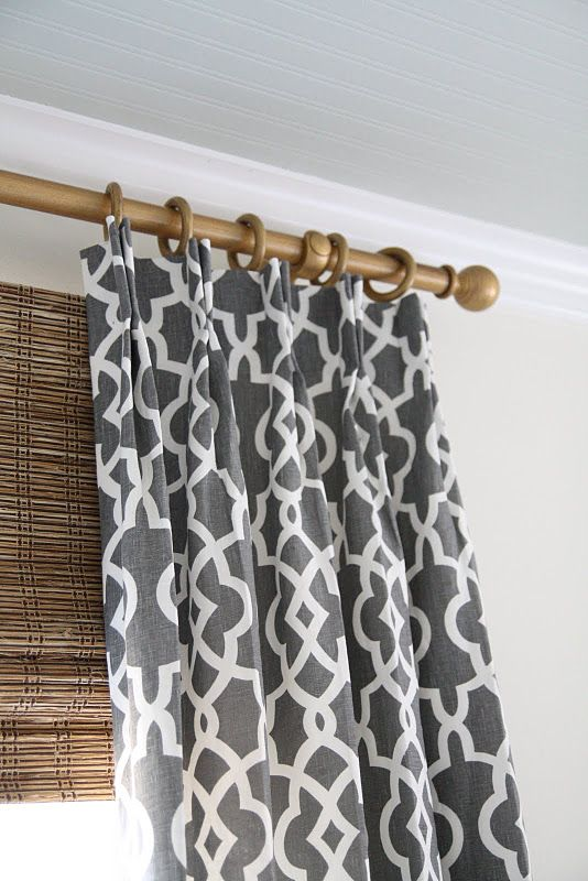 Bamboo shades with blackout liner behind also love the for Drapes over crib