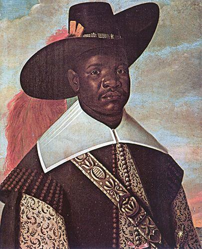 Kongo nobleman in Kongo-Portuguese dress, by Albert Eckhout- 17th century:
