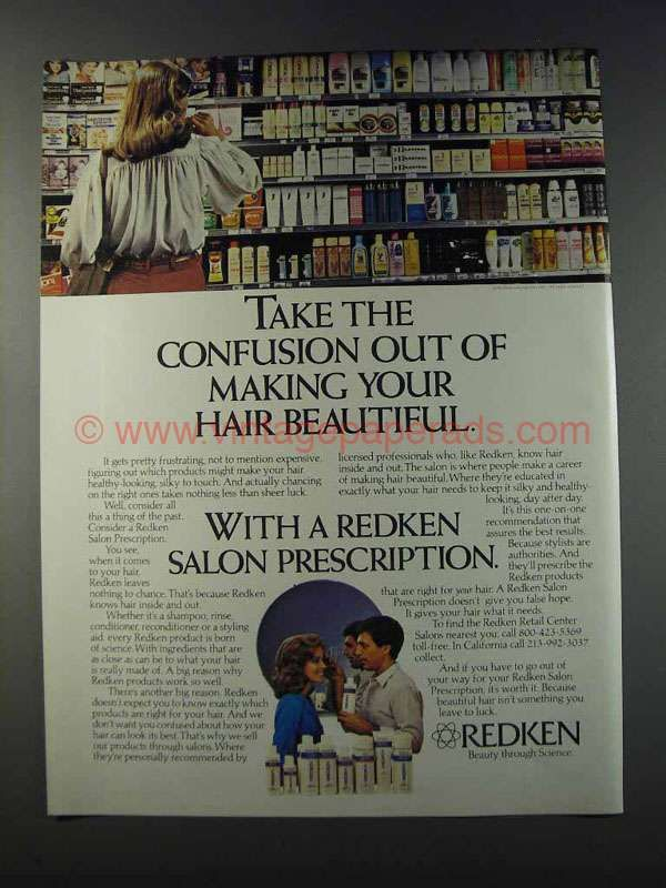 1981 Redken Hair Products Ad - Take Confusion Out