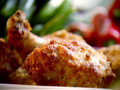 Oven-Fried Chile Chicken from CookingChannelTV.com (recipe by Anjum Anand)