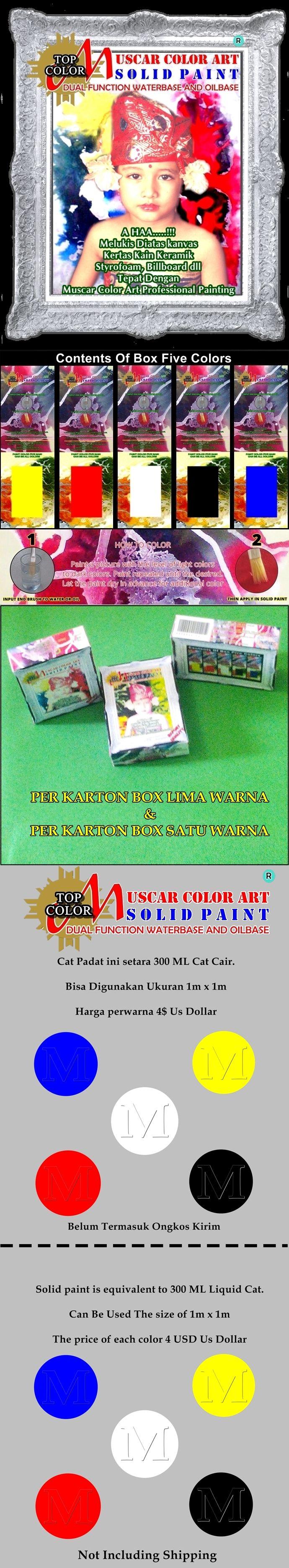 Paint Solid Muscar Color art  Setara 300ml