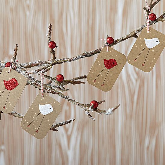 Easy Christmas Ornaments - Transform simple supplies into outstanding homemade Christmas ornaments with our easy crafting ideas. Clever embellishments, quick-to-make shapes, and beautiful designs come together to make this collection of easy Christmas ornaments...Feathered Friends Ornament