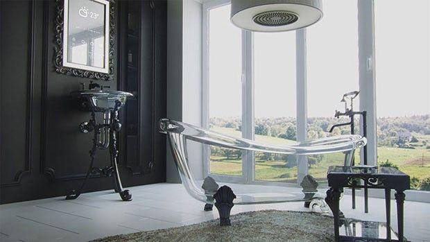 Banheira de vidro - design Kirill Myagkov   Casa Vogue