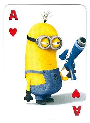 Despicable Me Minion trading game card Ace Hearts 2x4 Ray Gun @ niftywarehouse.com #NiftyWarehouse #DespicableMe #Movie #Minions #Movies #Minion #Animated #Kids