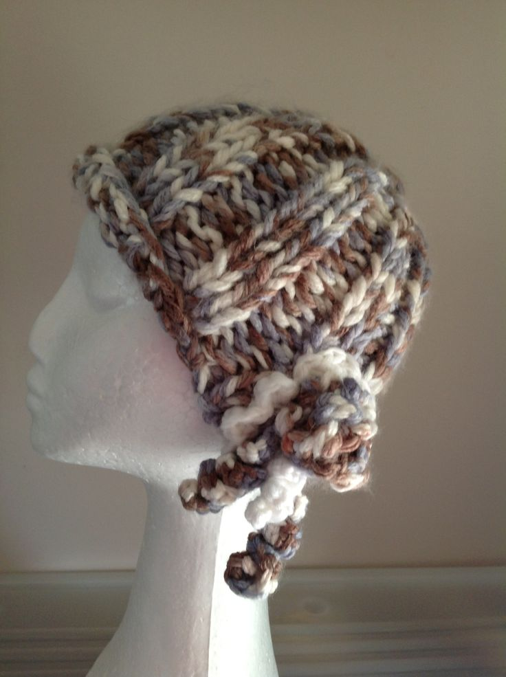 Baby blue cloche Vine Time Knits Jn 15:5