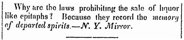 """A riddle, published in the Jerseyman newspaper (Morristown, New Jersey), 19 September 1838. Read more on the GenealogyBank blog: """"Our Ancestors' Riddles and Jokes of the 1830s"""" https://blog.genealogybank.com/our-ancestors-riddles-and-jokes-of-the-1830s.html"""