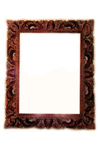 Hand Carved Wooden Mirror From Bali Hand Carved