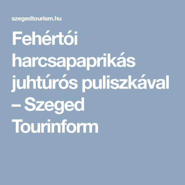 Fehértói harcsapaprikás juhtúrós puliszkával – Szeged Tourinform