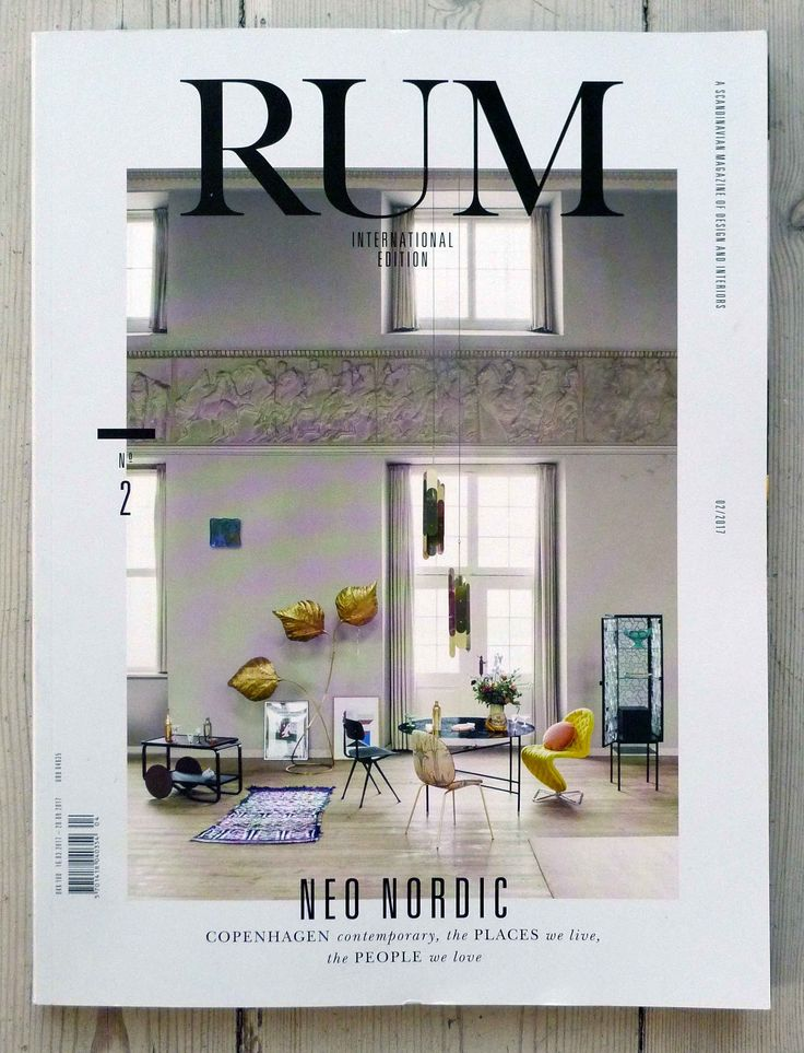 A moroccan rug from kira-cph.com in the international edition of the danish interior magasine RUM march 2017