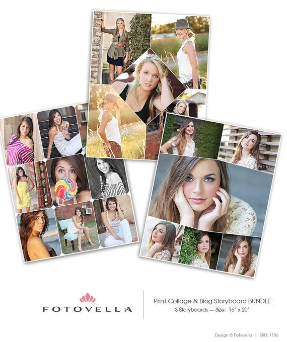 Print Collage Blog Storyboard Photoshop Templates  3 by FOTOVELLA // Featuring images from Simply Blush Senior Photography