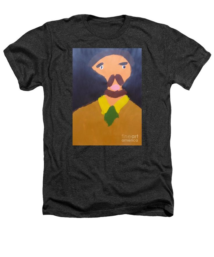 Patrick Heathers T-Shirt featuring the painting Portrait Of Eugene Boch 2015 - After Vincent Van Gogh by Patrick Francis