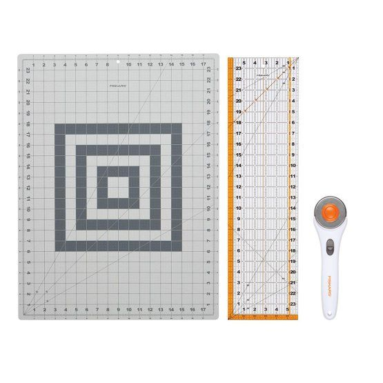 Whether someone on your gift list is a beginning quilter or experienced seamstress, the 3-Piece Rotary Cutting Set is essential for their growing list of projects.