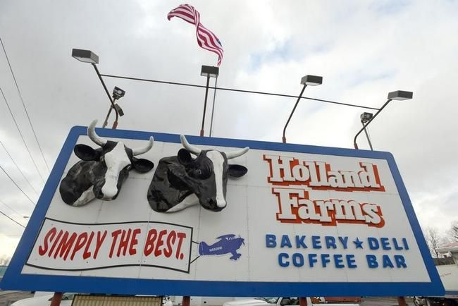 Tina Russell / Observer-Dispatch   The cow heads at Holland Farms Bakery & Deli on Oriskany Boulevard in Yorkville.
