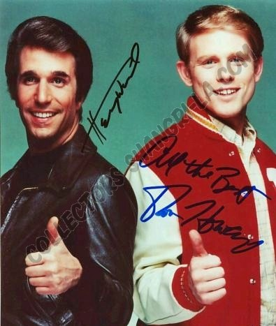 The Fonz and Richie Cunningham from Happy Days – my fave TV show from my teenage years. Wrote one pinner :)
