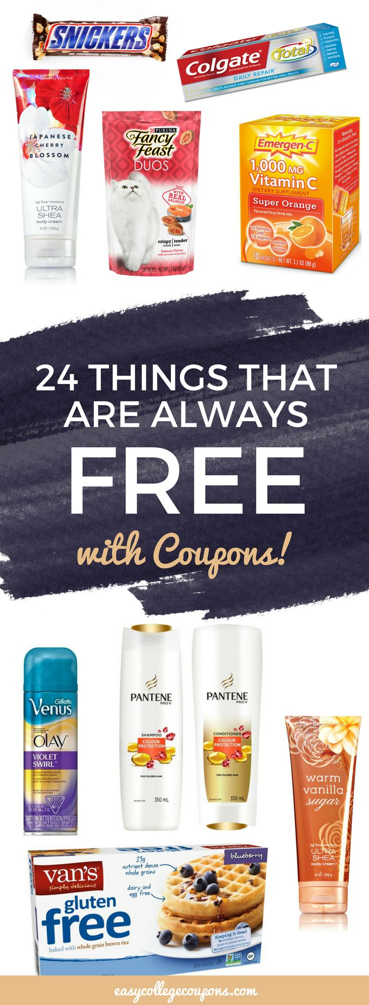 Things that are free with coupons | Free Stuff | Freebies | Couponing for Beginners | Save Money on Groceries or Make Up via @esycoupons