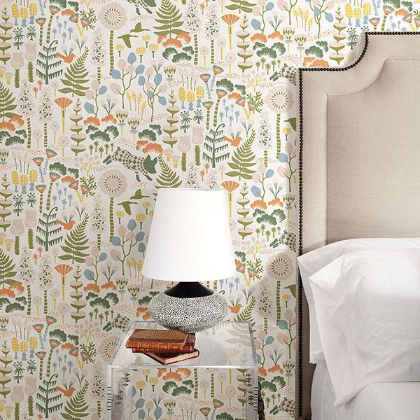 Hoppet Folk White Scandinavian Wallpaper Scandinavian Wallpaper Home Wallpaper Modern Bedroom Design