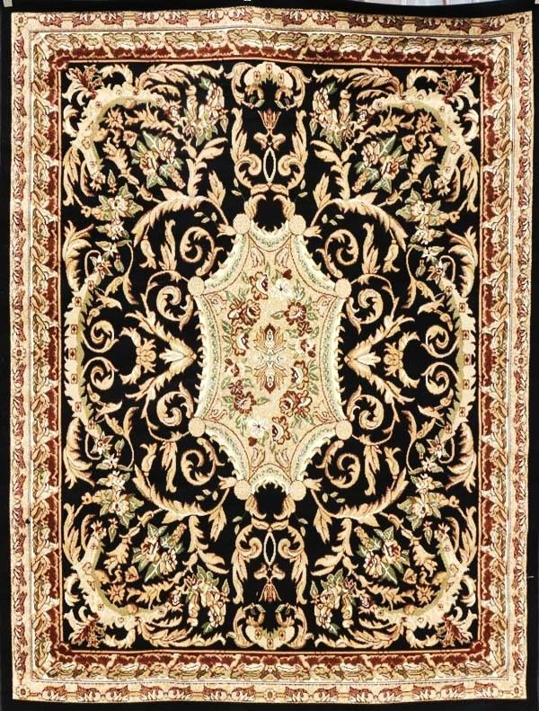 Discount Rugs USA  Black Traditional Rug 10x13 Cheap Rugs