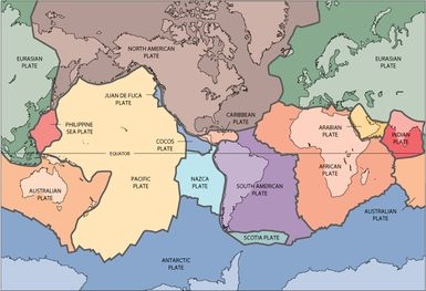 Plate Tectonics Explains How the Earth's Surface Behaves: The Earth's major tectonic plates
