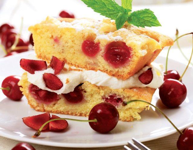 Prăjitură rapidă cu vişine - Retete culinare - Romanesti si din Bucataria internationala