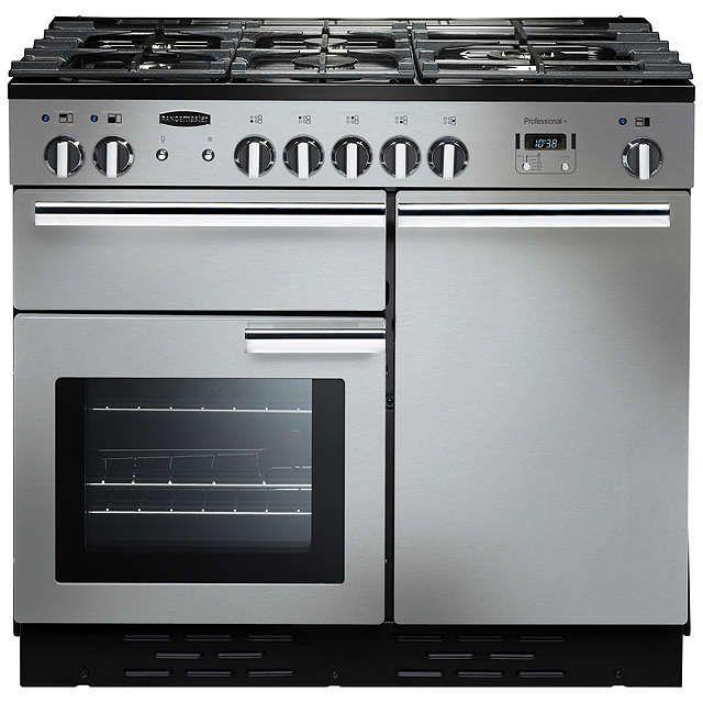 BuyRangemaster Professional + 100 Dual Fuel Range Cooker, Stainless Steel/Chrome Trim Online at johnlewis.com