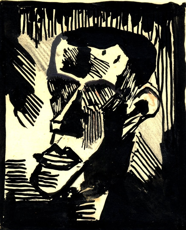 Leicester Expressionism - Mick Savage (after Karl Schmidt-Rotluff - New Walk Museum's excellent collection of German Expressionist art really got to me as a youngster).