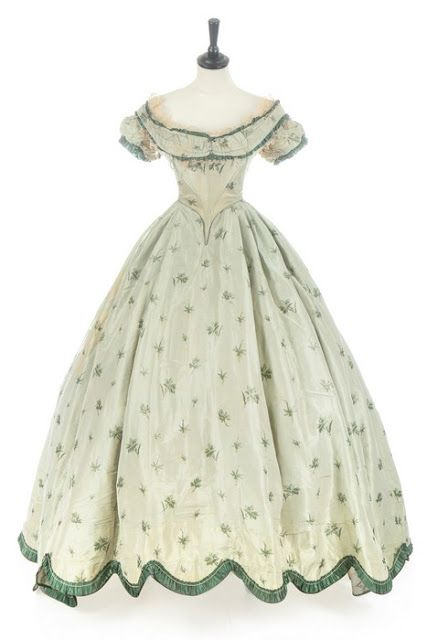 Evening dress, ca. 1860. | In the Swan's Shadow