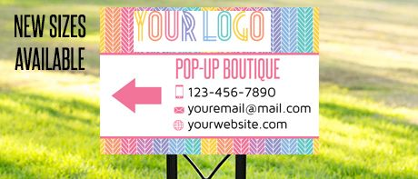 Fashion boutique Yard signs!- Herringbone pattern - Custom yard sign for Fashion consultants- Stand FREE!  by okprintables, $18.00 EUR