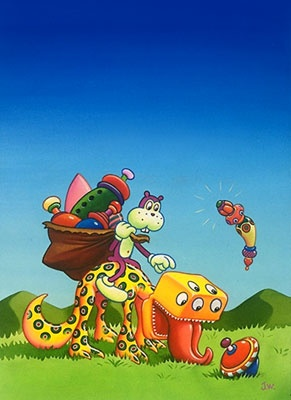 Frank and his mount. Jim Woodring