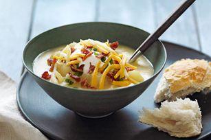 Soupe aux pommes de terre à la mijoteuse