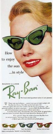 1950s Green cat eye ray-Ban Sunglasses