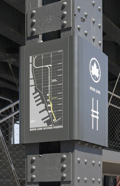 The High Line Signage And Environmental Graphics - Pentagram Design