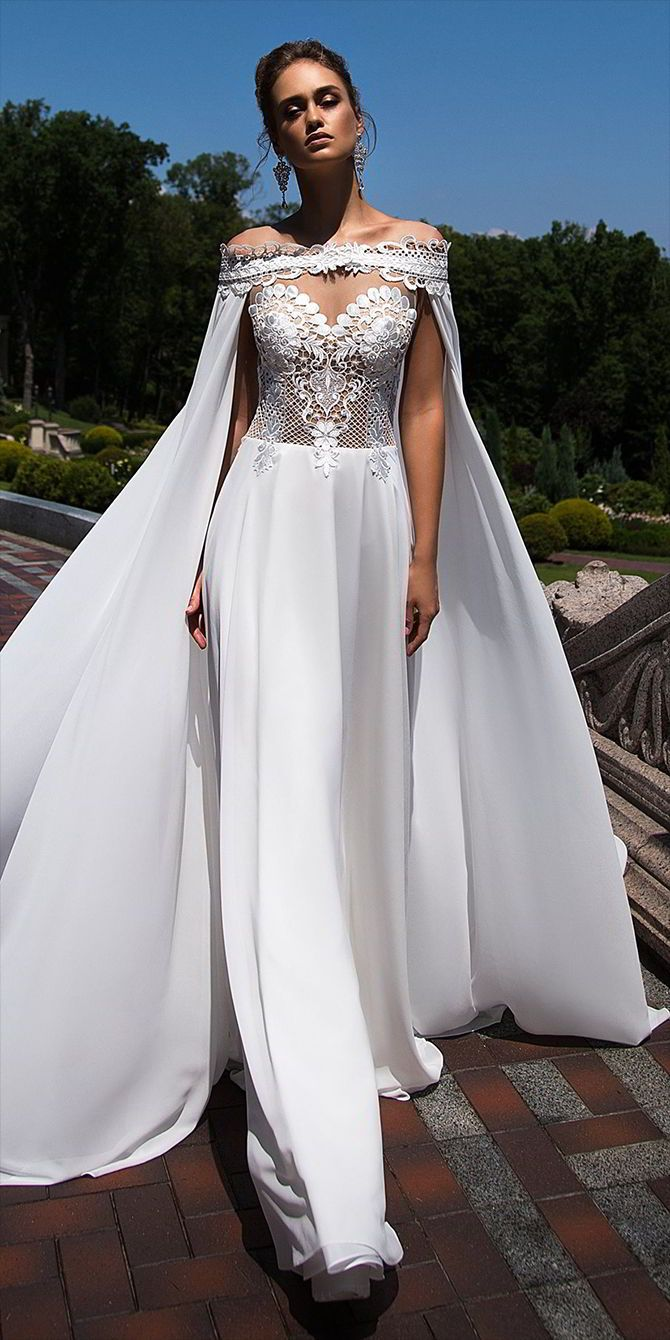 Ida Torez Fall 2017...OMG, absolutely gorgeous. Love this total bridal look. Change the fabric combinations to fit the wedding theme. Try a touch of color for the ultimate bridal look.