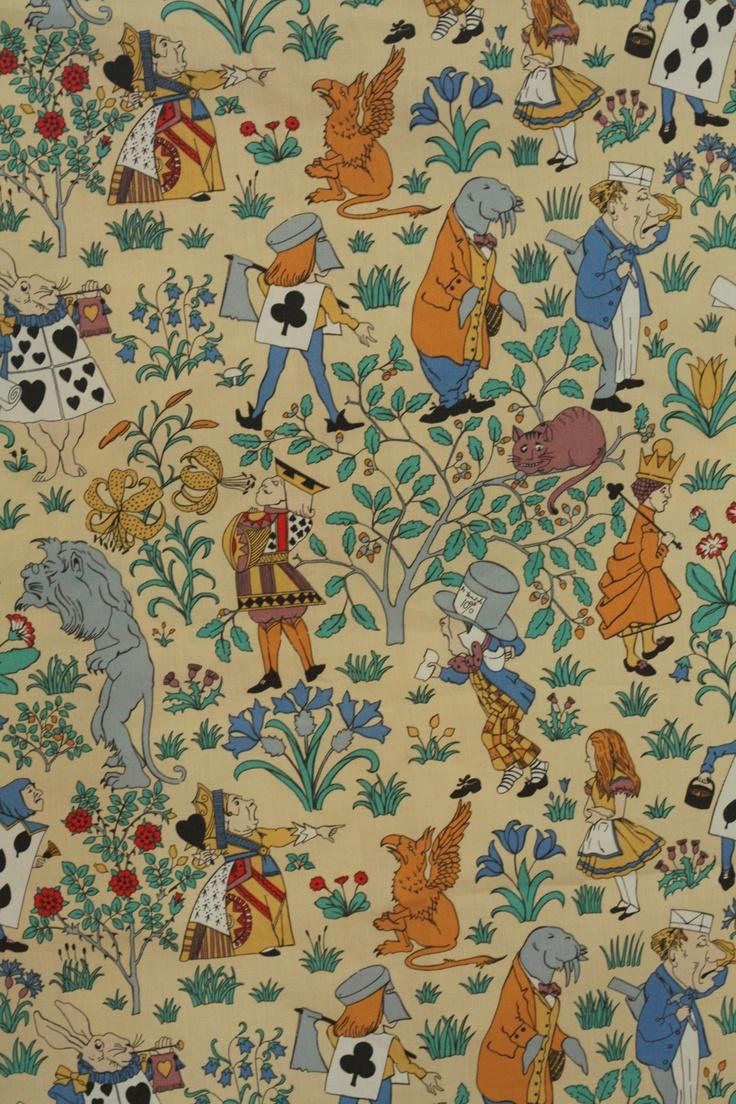 Vintage Alice In Wonderland Fabric 10