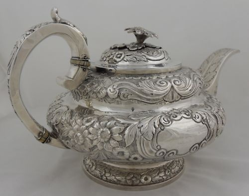 sterling teapot, 1834