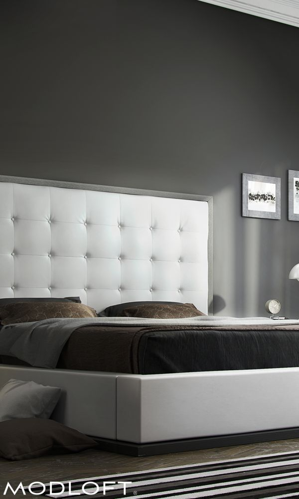 Our classic Modloft Ludlow bed has always turned heads. Massive button tufted headboard with contrasting wood frame really sparks a master or 2nd bedroom. Available in our quick-ship program (with free shipping!) for immediate delivery.