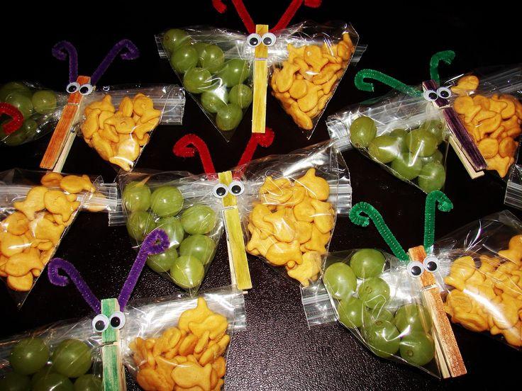 healthy kid snacks insect theme | Easy Bug Snacks http://origem-br.com.br/butterfly-snacks