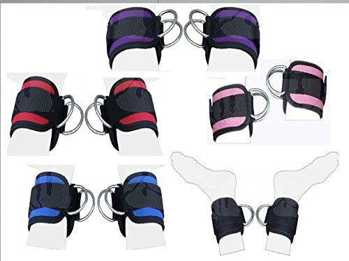 nice 2Fit Polea de correa de tobillo correa de muslo de la pierna Puños de ejercicio correas de puño, cable accesorio de elevación de doble anilla de máquina Multi Gimnasio Levantamiento de pesas D-Ring