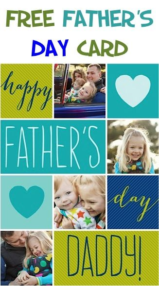 FREE Photo Father's Day Photo Card + FREE Shipping!!  #fathersday
