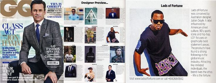 British GQ and LADS OF FORTUNE write up sept 2014