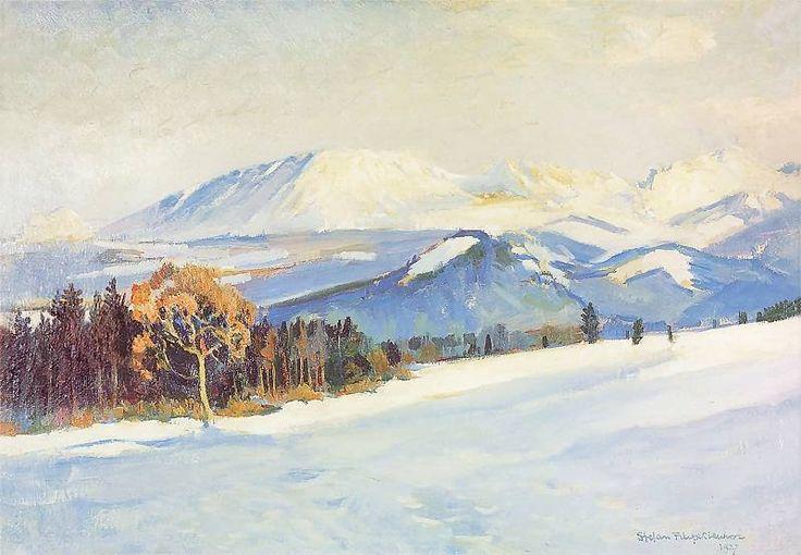 Tatry zimą by Leon Wyczółkowski