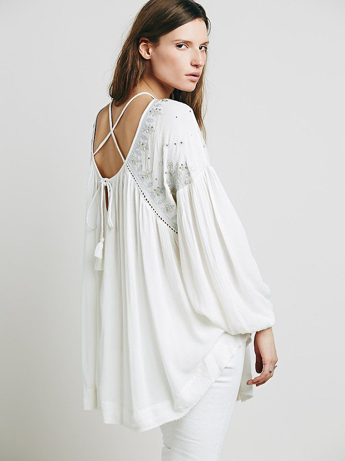 Free People Embellished Strappy Back Tunic, $69.95