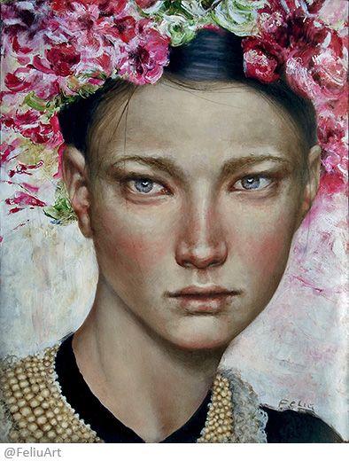 Valeria feliú - Homage to all Fridas – Oil  painting