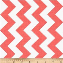 Coral Chevron Crib Skirt with a box pleat for by TASbabyfactory, $40.00