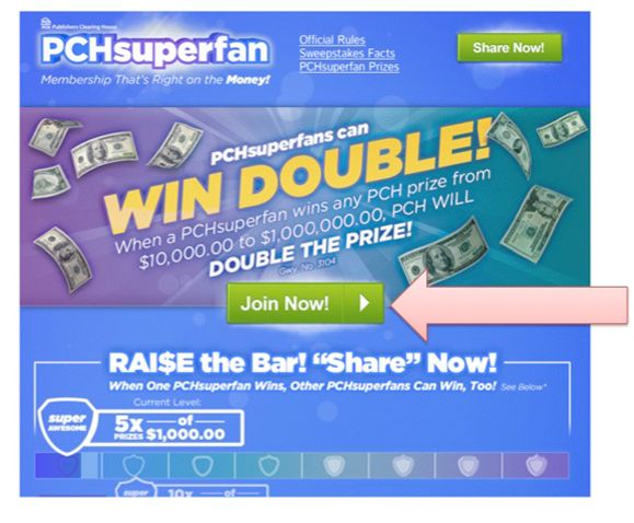 Deborah says....Are you a PCH SuperFan hoping to double a prize win? I say....Sure am !